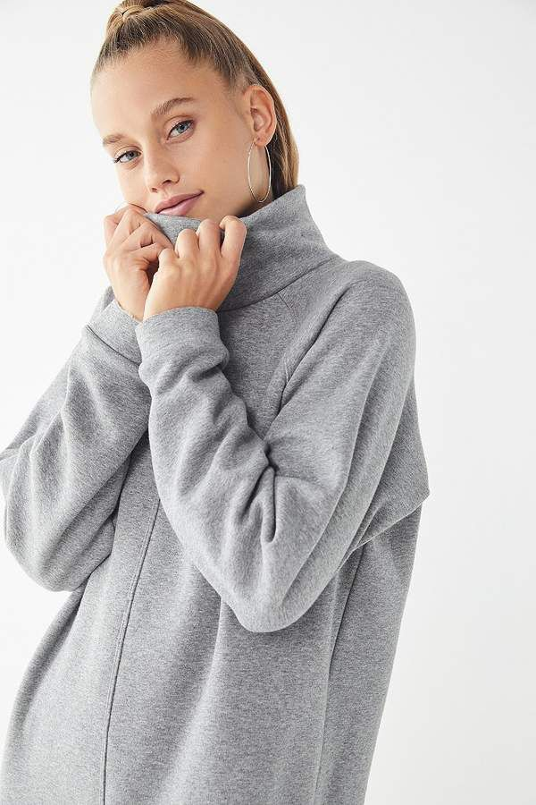 6202da5a403 Urban Outfitters UO Bunny Turtleneck Sweatshirt Dress