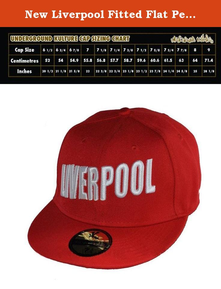 "New Liverpool Fitted Flat Peak Baseball Cap 7 1/4"". Very unique limited edition (only 160 ever made) Liverpool Fitted Baseball Caps."