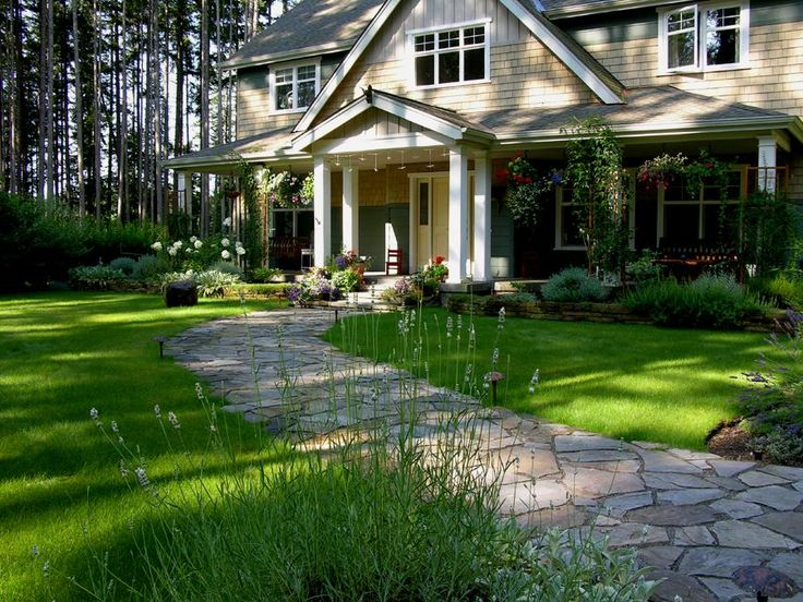 front entry path | Front Garden, Entrance Path, Raised Beds from MacQueen Design in ...