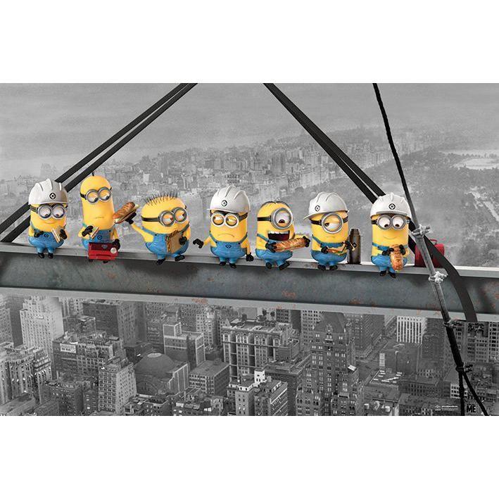 Oryginalny plakat Minions - Minions Lunch On A Skyscraper   Minionki szybko…
