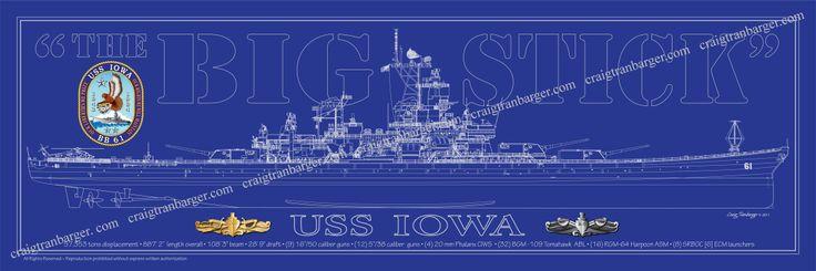 USS Iowa Blueprint