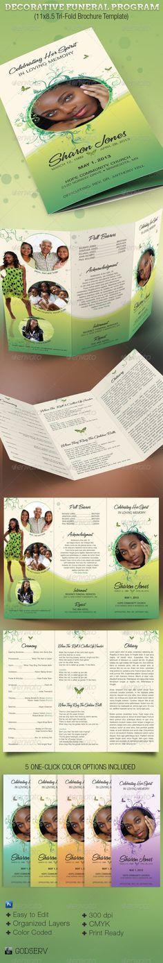 64 best MEMORIAL LEGACY \ PROGRAM TEMPLATES images on Pinterest - free memorial program templates