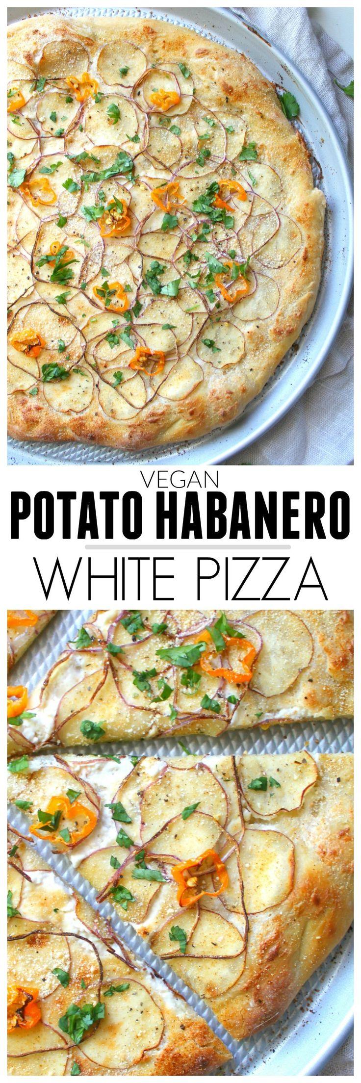 vegan potato habanero white pizza rezept plant based ideas recipes pinterest vegane. Black Bedroom Furniture Sets. Home Design Ideas