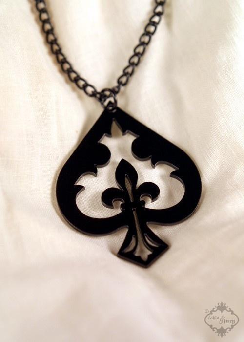 Spade fleur de lis necklace $26