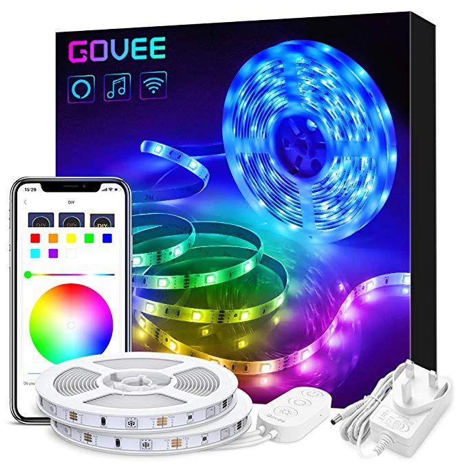 Govee Alexa Led Strip Lights 10m Smart Phone App Controlled Lighting Kit Jworks With Google Home Echo Music Sync Led Strip Lighting Strip Lighting Led Strip