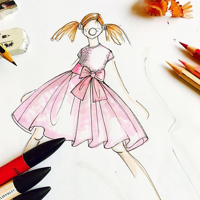 We told you there'd be more peaks behind the scenes. This time a new sketch of a pretty pink dress that we're working on at the moment. Can't wait to share it with you once it's all finished! #sketch #sketching #fashion #fashionsketch #creative #preview #sneakpeek #atelier #madeinitaly #puglia #craftsmanship #childrenswear #childrensfashion #kidsfashion #kidswear #drawing #design #designer #creativedirector #pink #stylishkids #fashion #atelier #italy #prettyinpink #girlsdress