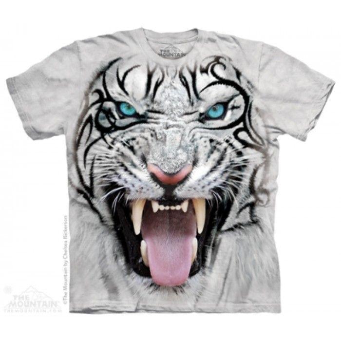 Tricouri The Mountain – Tricou Big Face Tribal White Tiger