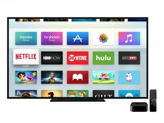 Apple TV with remote