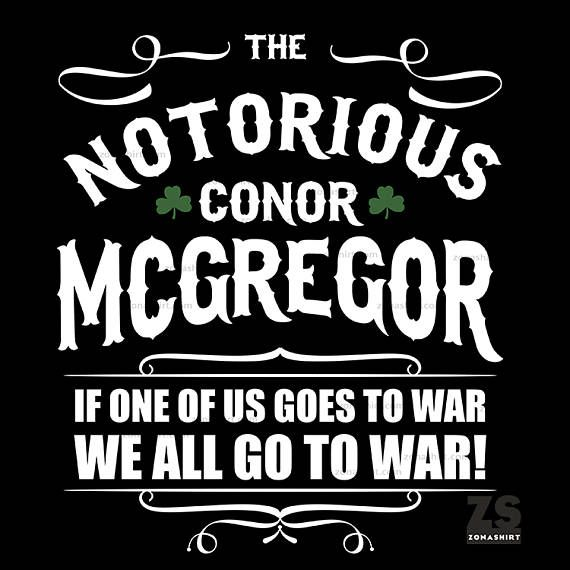 Camiseta de Conor Mcgregor The Notorious Mcgregor