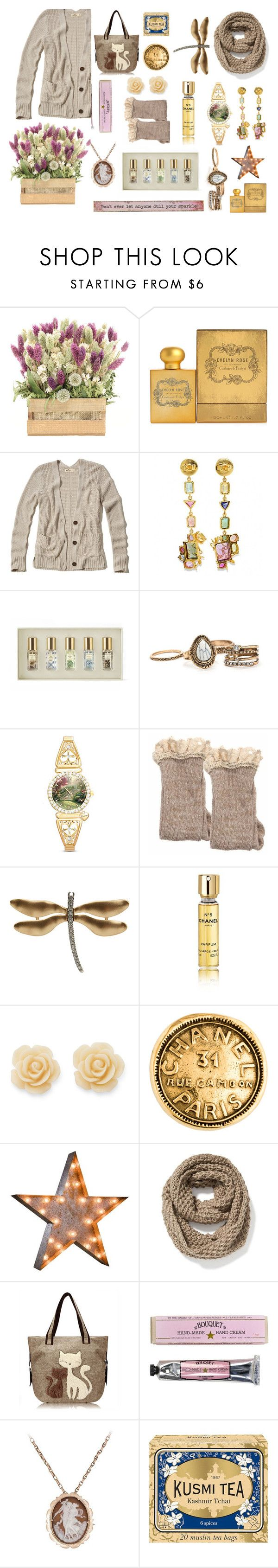 """""""soft and pretty"""" by lillybluemoon on Polyvore featuring Crabtree & Evelyn, Hollister Co., Daniela Villegas, AERIN, The Bradford Exchange, Kenneth Jay Lane, Chanel, Draper James, Old Navy and Soap & Paper Factory"""