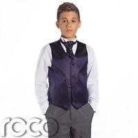 Púrpura Para Niños & Gris Suit,Traje Ceremonia Niño,Chicos De La Boda Suit,