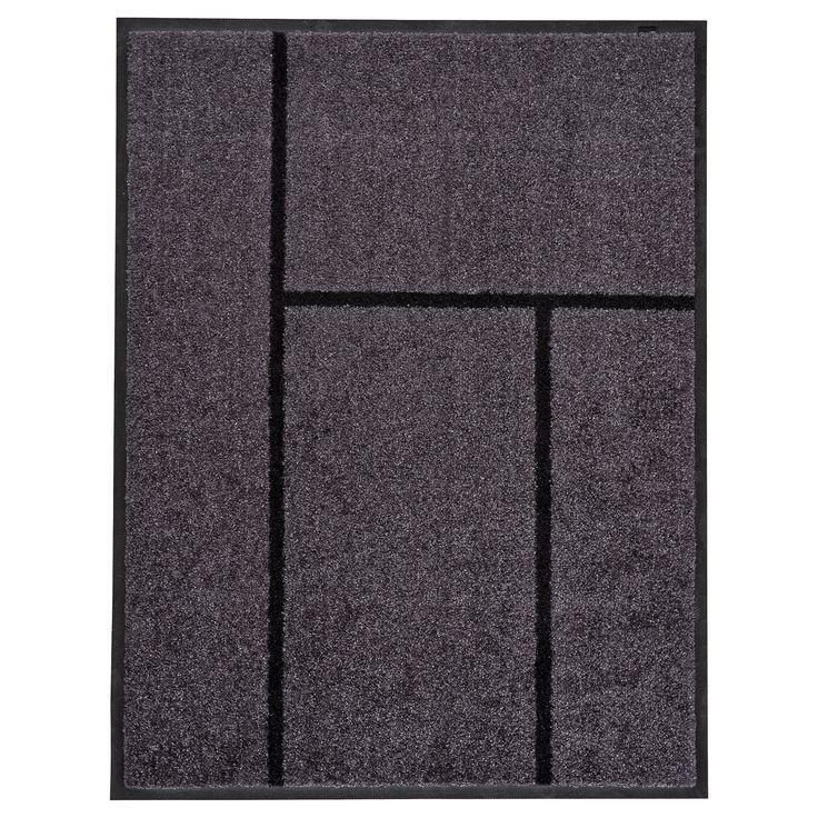 IKEA - KÖGE Door mat gray, black