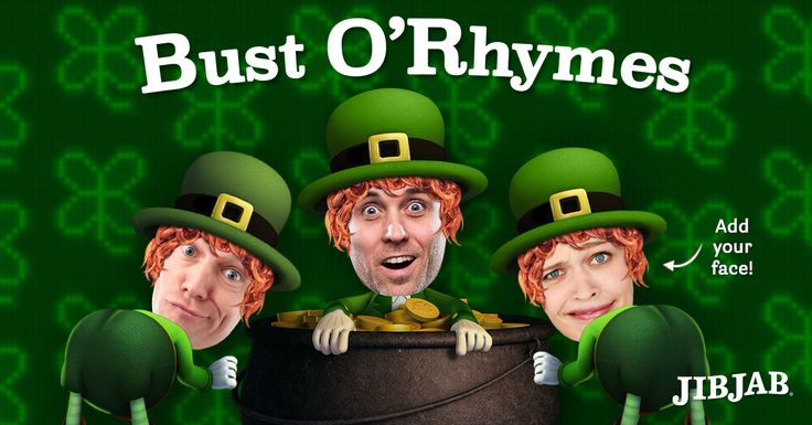Puff Paddy and the Family                                                                                Cast up to 5 buds in this hilarious JibJab rap. (Because it's all about the Leprechauns, Baby!)