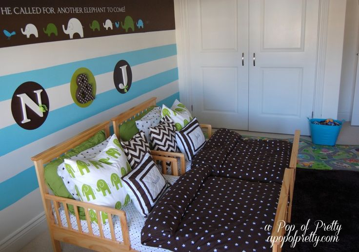 A Pop of Pretty: Canadian Decorating Blog - http://apopofpretty.com/twin-toddler-room-decor/