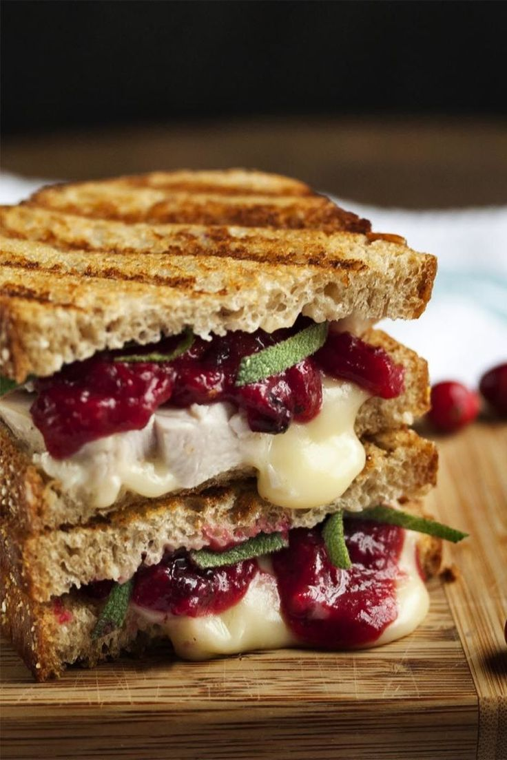 Turkey, Brie, and Cranberry Mustard Panini