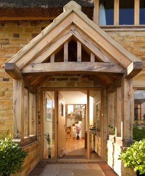 oak framed village home doorway