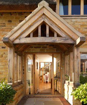 oak framed village home doorway