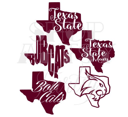 Texas State University Decal Art by ShopArtsyFartsy on Etsy
