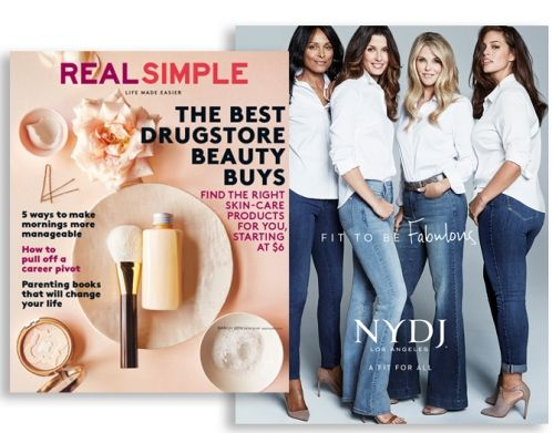 NYDJ - IN THE PRESS - REAL SIMPLE US MAGAZINE - FEATURING NYDJ