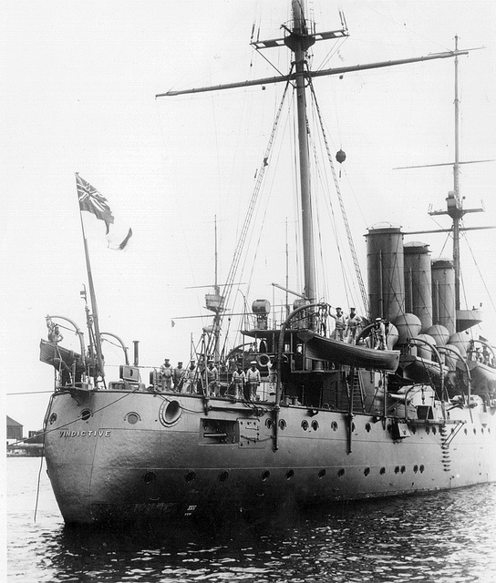 H.M.S. Vindictive (the British have the best ship names). Not anymore... 'Duncan'