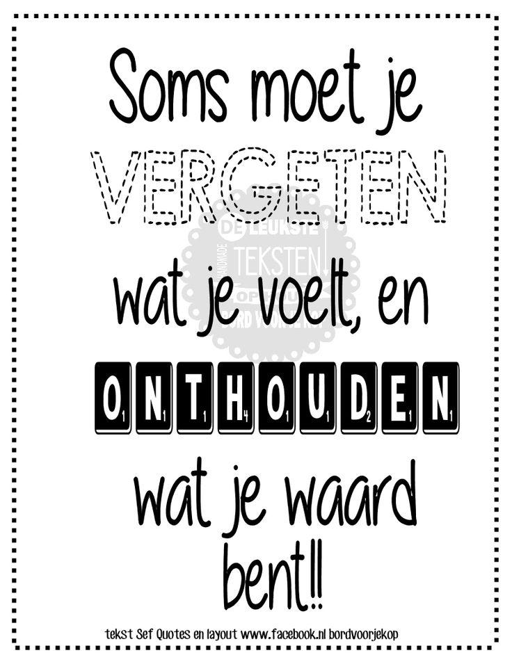Wat je waard bent www.facebook.nl/bordvoorjekop