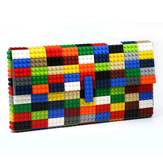 Oversize multicolor #clutch made entirely of #LEGO bricks