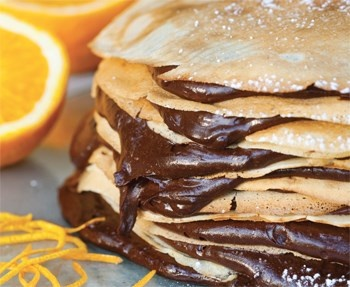 Jackie Camerons crêpes filled with orange-infused chocolate mousse