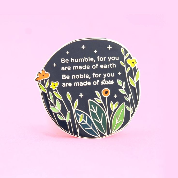 Made of Stars Pin   Enamel pin, quote pin, proverb pin, inspiring pin, Serbian quote, Serbian proverb by thecleverclove on Etsy https://www.etsy.com/listing/576669047/made-of-stars-pin-enamel-pin-quote-pin