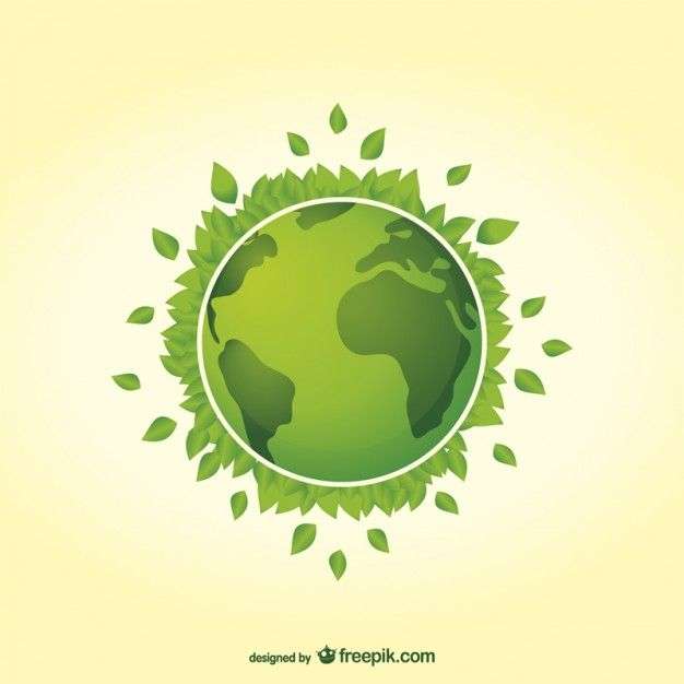 Earth day green planet vector