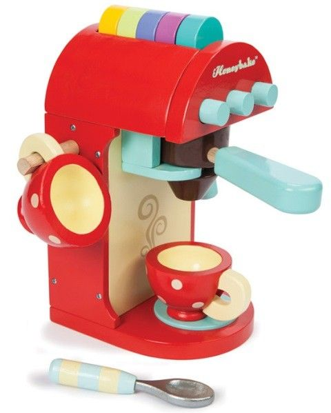 Le Toy Van - Honeybake Chococcino Coffee Machine. Gorgeous toy for playing cafes #EntropyWishList #PinToWin