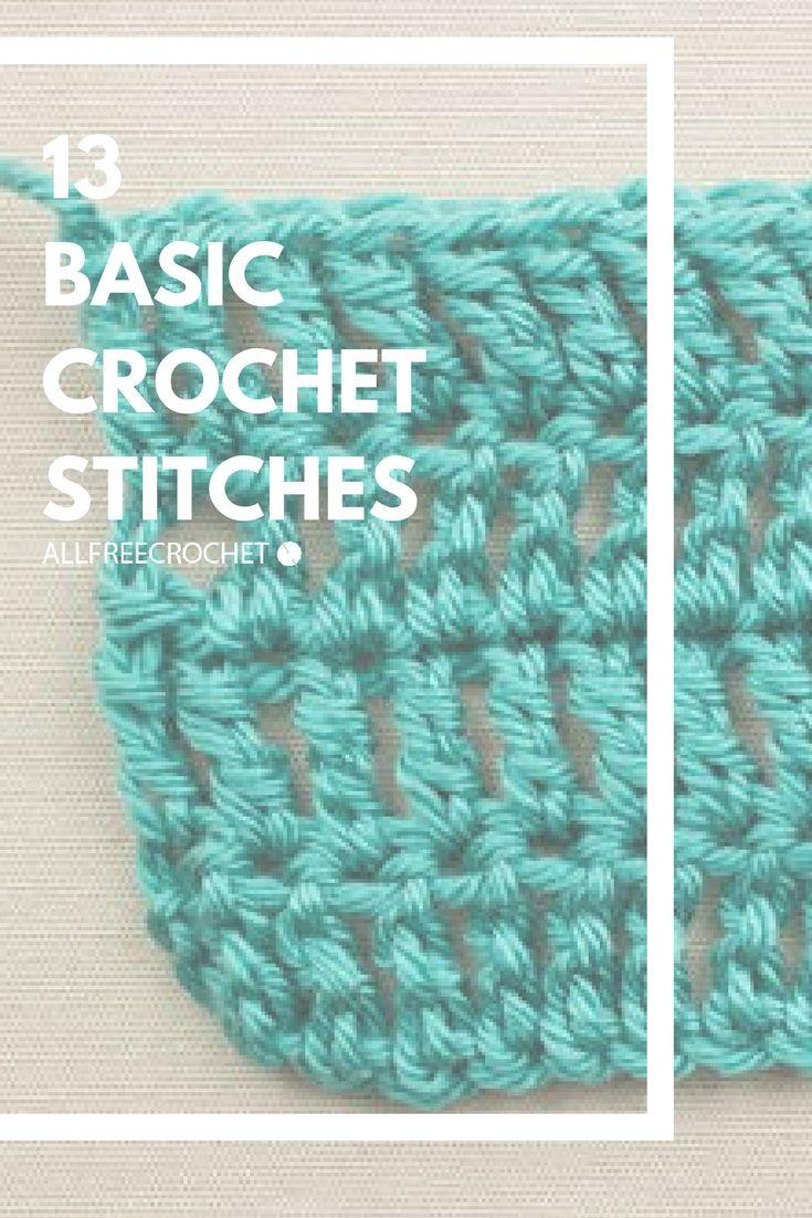 20 Basic Crochet Stitches Beginner Crochet Tutorial Crochet Stitches For Beginners Basic Crochet Stitches