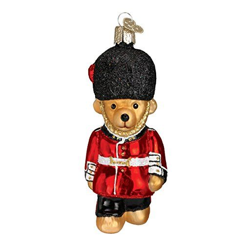 Old World Christmas Palace Guard Teddy Glass Blown Ornament *** Check out this great product.