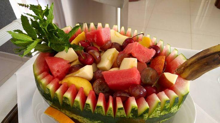 Fruit salad, Mnistires Restaurant, Agia Efimia, Kefalonia, Greece