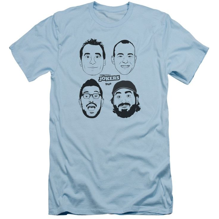 truTV Impractical Jokers Cast Adult Carolina Blue T-Shirt