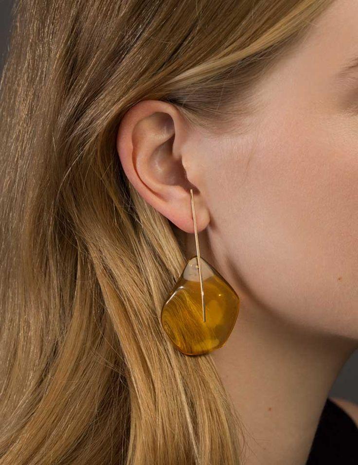 Amber Earrings | Kathleen Whitaker
