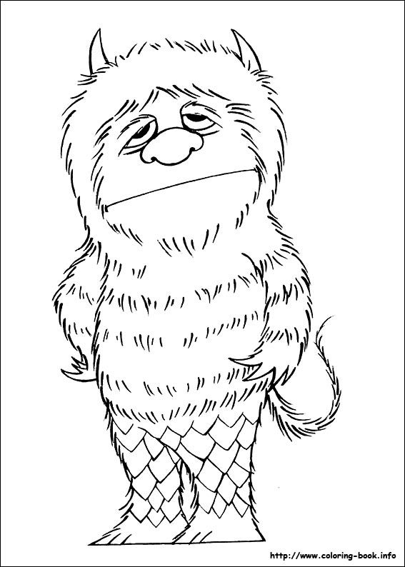 Where The Wild Things Are Coloring Picture