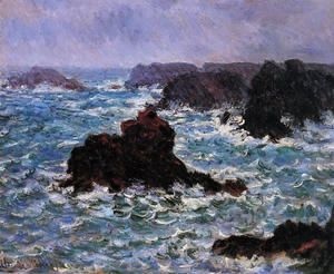 Belle Ile Rain Effect  Claude Oscar Monet
