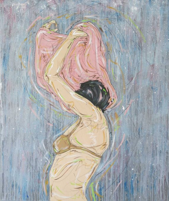 Go and let it Out ; 2012 Artist Syahraya- Acrylic and pencil on canvas 100cm x 120cm on Etsy, $750.00 AUD