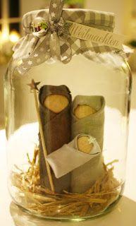Der kleine Stempelgarten: Krippe im Glas
