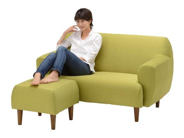 YU9112ソファ(オットマン付き) ブルー 通販 インテリア・家具のノーチェ