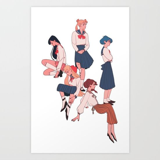 sailors Art Print by Mohtz. Worldwide shipping available at Society6.com. Just one of millions of high quality products available.