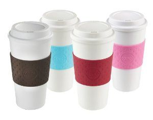 Amazon.com | Copco Acadia Reusable To Go Mug, 16-ounce Capacity 4-pack (Pink, Azure, Brown, Red): Coffee Cups & Mugs