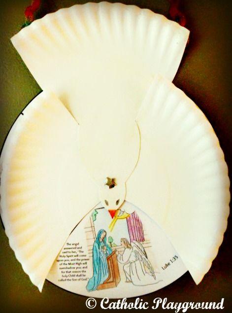 Holy Spirit Scripture Wheel Craft Catholic Kids