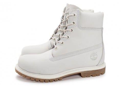 Chaussures Timberland 6 Inch Premium Boots Blanche vue extérieure
