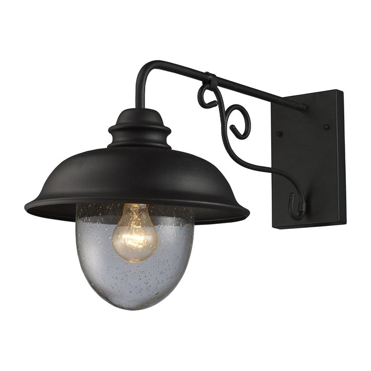 ELK Lighting 62001 1 Streetside Café Outdoor Sconce, Matte Black
