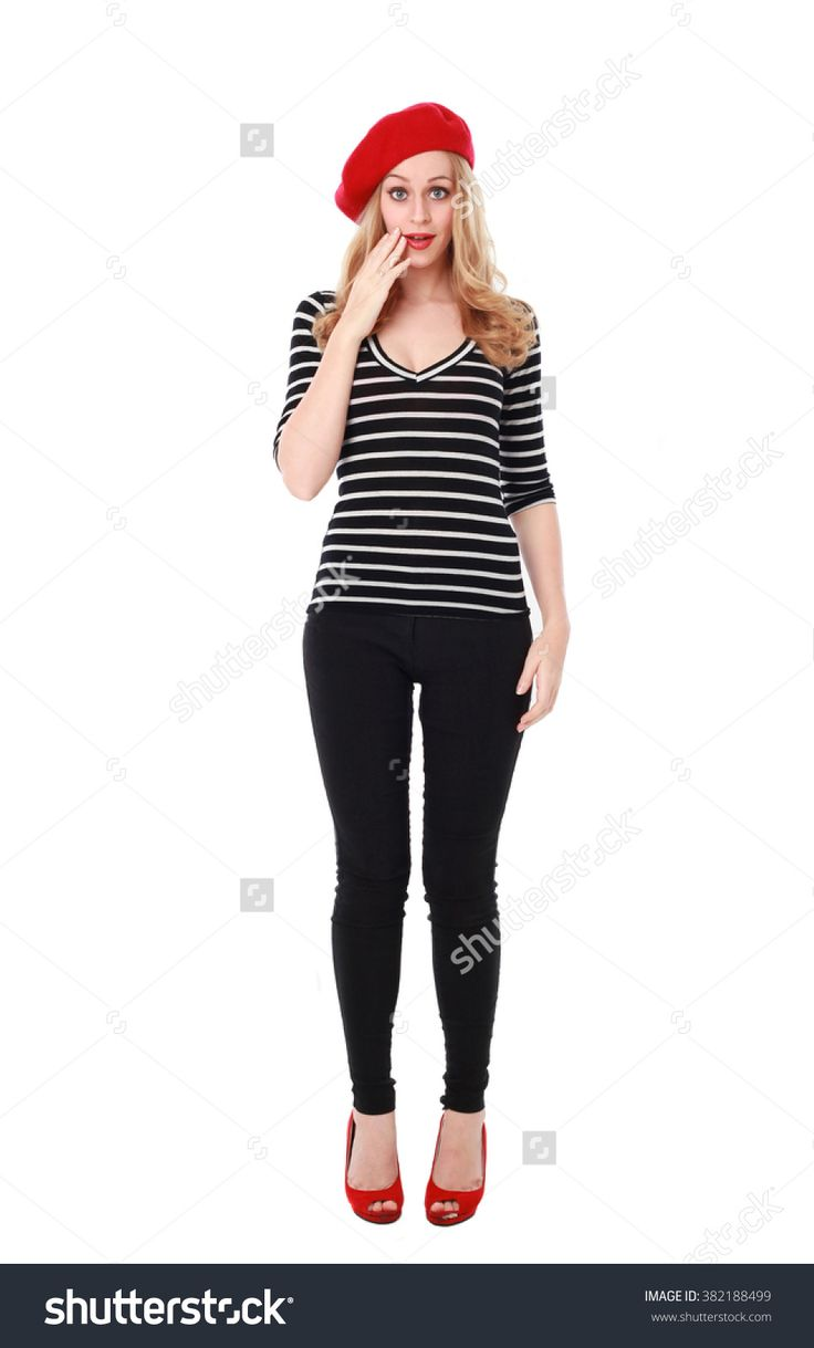 Blonde Woman Wearing Stereotypical French Clothing