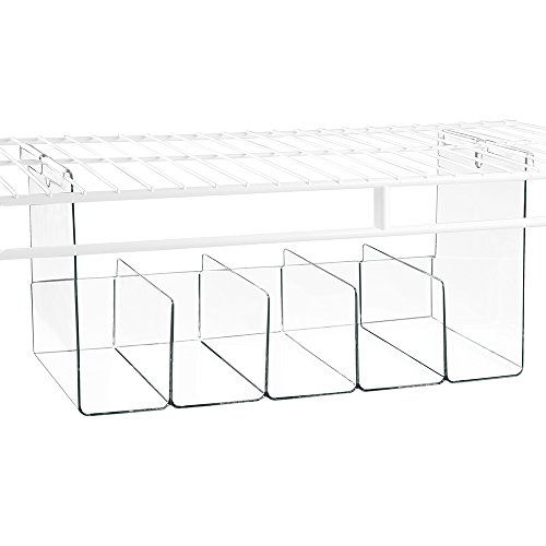 InterDesign S Wire Shelving Organizer Bins Expand Your Storage Space In  Your Closet System. Made Of Durable Plastic, These Bins Attach Underneath  Wire ...