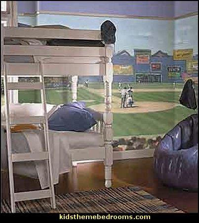 Bseball Wall Murals Baseball Bedroom Bedrooms Kids Theme