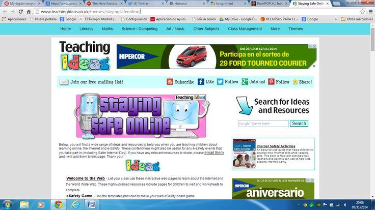 You can lfind some more resources to teach and learn more about internet safety on this web page: http://www.teachingideas.co.uk/themes/stayingsafeonline/
