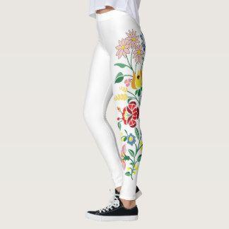 Traditonal Hungarian Embroidery design Leggings
